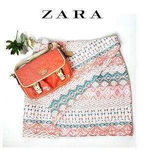 Zara woven faux wrap mini skirt, sz S